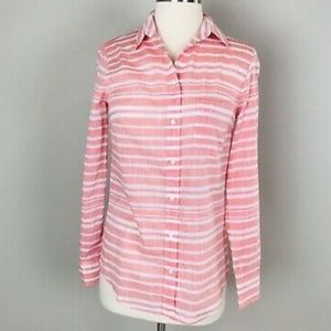 JCREW Cotton Striped Boyfriend Shirt  - Sz XXS